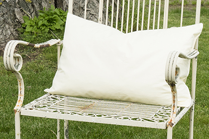 Füllkissen 40x60cm, formstabil, hohe Füllkraft, Baumwollqualität (Mako), weiß, federndicht