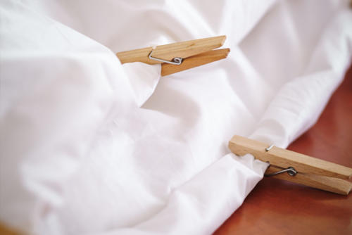 Bettdecke Produktion Befüllung mit Gänsedaune