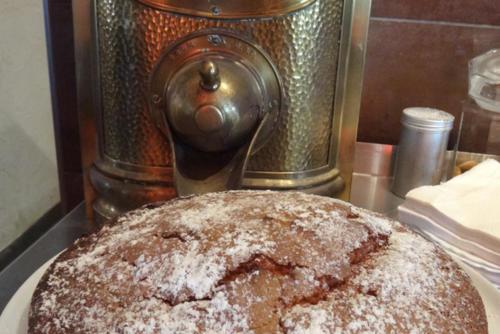Kaffeemühle Kuchen selbst gebacken
