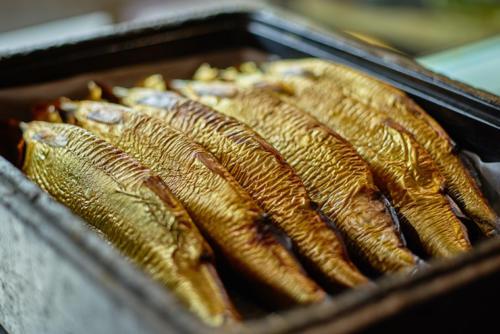 geräucherter Fisch Hering Forelle