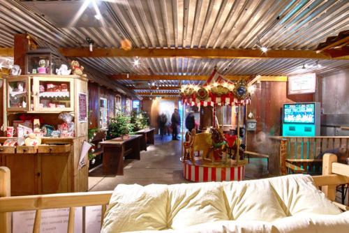 Bettwaren Kinderkarussell Weihnachtsmarkt Dekoration